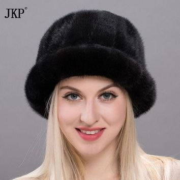 DCCKU62 2017 Royal Mink Fur Winter Hats New  Fluffy Girls Casual Sun Hat Lovely Caps Women New Russian Hat BZ17-17