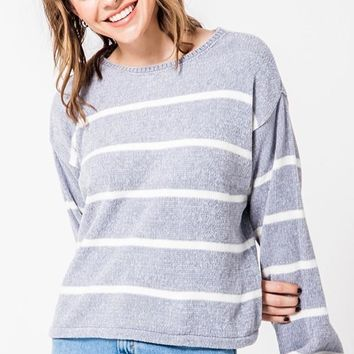 Happy Place Sweater - Dove Grey