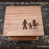 music box, gift for dad, dad gift, fathers day gift, gift for mom, mom gift, mother's day gift, custom made music box, personalized