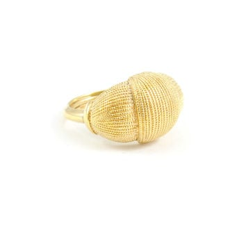80s__Vintage__Gold Cushion Ring
