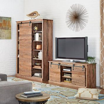 Holden Media Cabinet - Media Cabinet - Tv Cabinet - Buffet Sideboard - Sliding Door Media Cabinet - Wood Cabinet | HomeDecorators.com