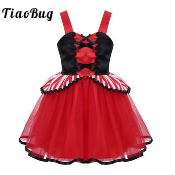 TiaoBug Girls Halloween Cosplay Pirate Costume Party Dress for Kids Wide Straps Sweetheart Neck Infant Baby 1st Birthday Dress