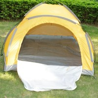 Outdoor Bivouac Camp Camping Hiking Hiker Folding Instant Dome Tent 2-Person Yellow Waterproof Polyester 180T - 6.5-Foot by 5-Foot