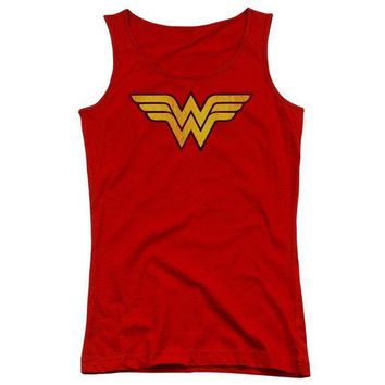 CREYM83 Wonder Woman Logo Dist Juniors Tank Top