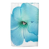 TURQUOISE FLOWER POWER KITCHEN TOWELS