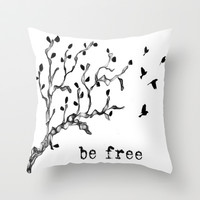 Be Free Throw Pillow by JK1983