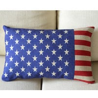US Flag Print Decorative Pillow B [034] : Cozyhere