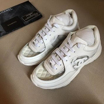 Double C White/clear Sneaker