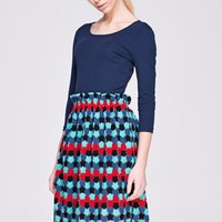 Knitted and Embroidered Dress