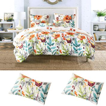 Nordic Design Jacquard Bedding Set 3PCS Bedclothes Fashion Geometric Flower Bed Sheet Duvet Cover Sets US UK Size