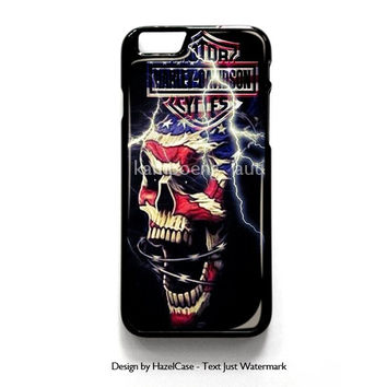 Harley Davidson for iPhone 4 4S 5 5S 5C 6 6 Plus , iPod Touch 4 5  , Samsung Galaxy S3 S4 S5 Note 3 Note 4 , and HTC One X M7 M8 Case Cover