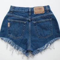 "ALL SIZES Vintage ""DIONYSUS"" High Waisted Denim Shorts"