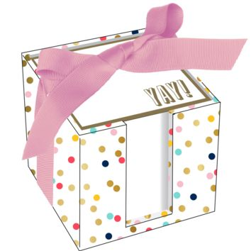 YAY! Confetti Dots Notecube
