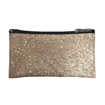Glitter Girl Small Cosmetic Bag