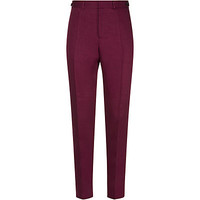 Burberry Prorsum Tapered Linen Trousers