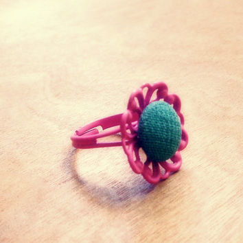 Handmade Pastel Filigree Adjustable Ring