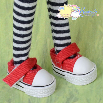 Doll Shoes Mary Jane Tennis Shoes Sneakers Red for Blythe Pullip Momoko Lati Yellow Pukifee BJD Dollfie Kish Riley Riki