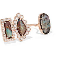 Kimberly McDonald - 18-karat rose gold, opal and diamond ring