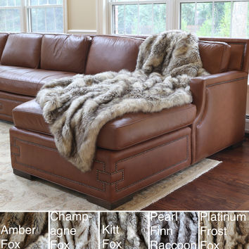 Wild Mannered Luxury Long Hair Faux Fur Lap Throw | Overstock.com Shopping - The Best Deals on Throws