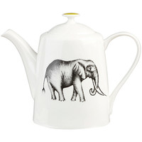 Buy Harlequin Elephant Teapot, White / Black | John Lewis