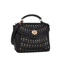 Sophia Black Laser Cut Crossbody Bag