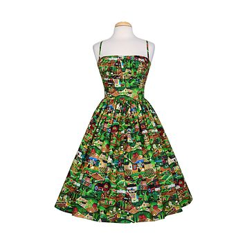 Paris Dress in Heartland print