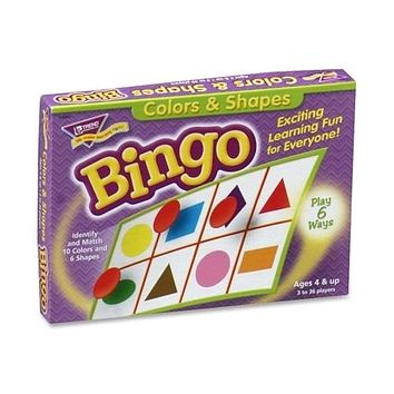 Trend Enterprises Colors And Shapes Bingo, For Ages 3 And Up - 3 Units