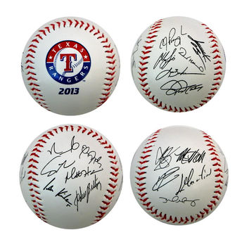 2013 Team Roster Signature Ball - Texas Rangers