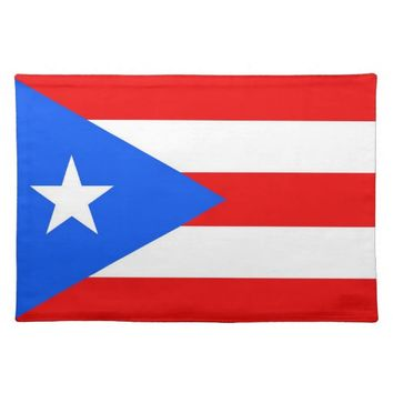 Puerto Rico Flag American MoJo Placemat