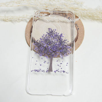 iPhone 6s Case Floral, iPhone 6s Plus Case Clear,Purple Pressed Flower iPhone 6s Case, Clear iPhone 6s Case, iPhone 5s/6s Plus Flower Case
