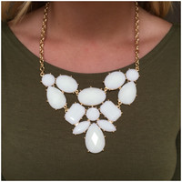 Ivory Masquerade Statement Necklace Set