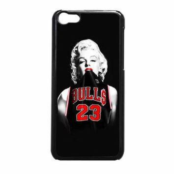 CREYUG7 Marilyn Monroe Chicago Bulls Jersey Michael Jordan iPhone 5c Case