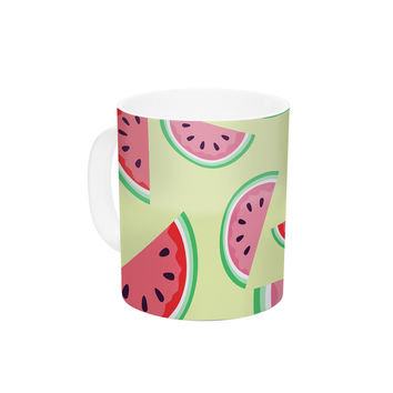 "afe images ""Watermelon Background"" Pink Food Ceramic Coffee Mug"