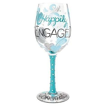 Lolita by Enesco Happily Engaged Wine Glass
