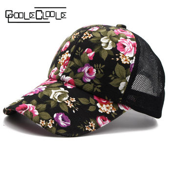 2017 New Fashion hats for women  Flower Pattern Lily Baseball Cap flax golf gorras casquette Breathable hat for girl ladies