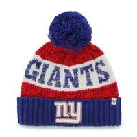 New York Giants '47 Brand Women's Swanson Cuff w/Pom Knit Beanie – Red