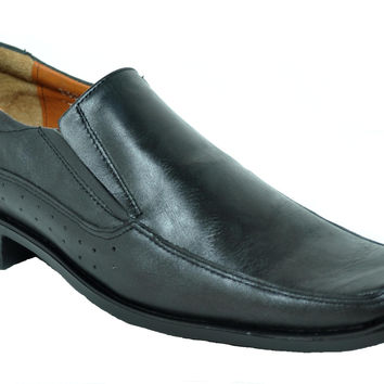 Baronett 7713 Men's Genuine Leather Black Dress Shoes