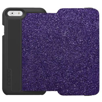 Cool Awesome Purple Glitter Incipio Watson™ iPhone 6 Wallet Case