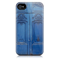 iPhone 4 Case, 4S iPhone Case - Paris Blue Door Photograph, Denim, Indigo - La Porte