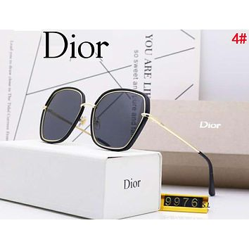 DIOR Fashionable Women Casual Chic Summer Sun Shades Eyeglasses Glasses Sunglasses 4#