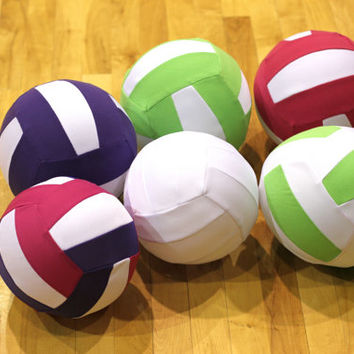Volleyball Gift, Real Size Fabric covered Balloon Volleyball, Very Light Ball - Customize Colors