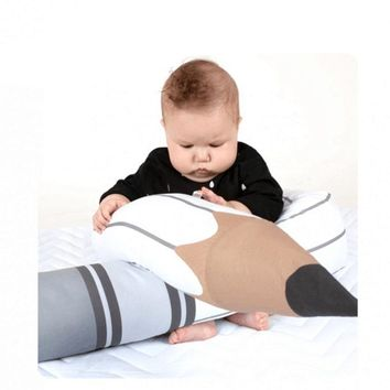 C Nodic Kids Comfortable Plush Pencil Pillow Decorative Baby Bed Pillow Decoration Newborn Bumper Long Pillow Infant Room Decor