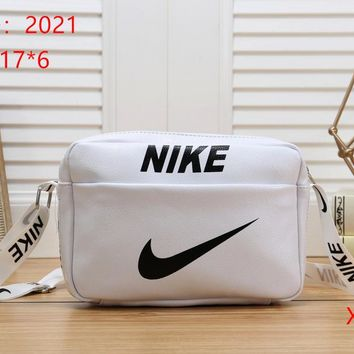 NIKE Women Fashion Leather Satchel Tote Shoulder Bag Handbag