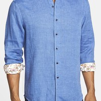 Men's Robert Graham 'Kinship' Classic Fit Linen Sport Shirt