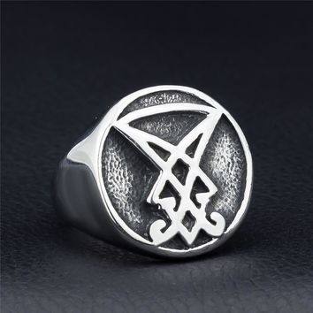 Hot Personality Alloy Ring Satanic Devil Men's Rings Punk Style Fashion Jewelry Drop Shipping