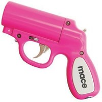 Mace® Pepper Gun Pink, Sprays from any Angle up to 25', Trigger Activated LED for Better Aim