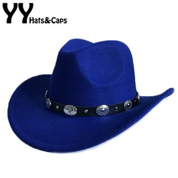 Mens/Womens Cowboy Western Hat with Embellished Band
