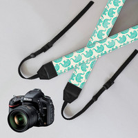 elephant Camera Strap,dSLR Camera Strap,personalized camera strap,Camera accessories,leather strap,nikon camera strap,canon camera strap