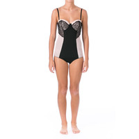 Marilyn Monroe Intimates Womens Lace Overlay Convertible Bodysuit