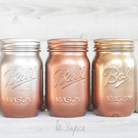 Ombre Mason Jar Round Up - Creative Services: Mason Jar Decor & DIY